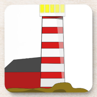 Lighthouse Drawing Coaster