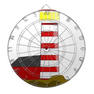 Lighthouse Drawing Dartboard