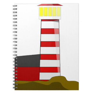 Lighthouse Drawing Spiral Notebook