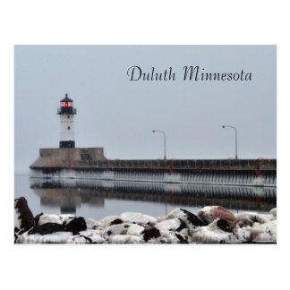 Lighthouse Duluth Minnesota Postcard