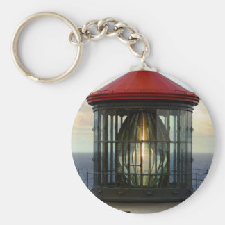 Lighthouse Glass Basic Round Button Keychain