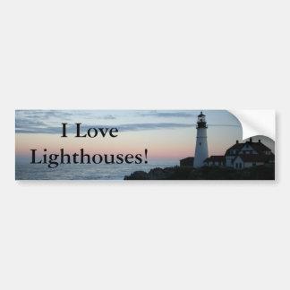 Lighthouse, Glorious Sunset! Bumper Sticker