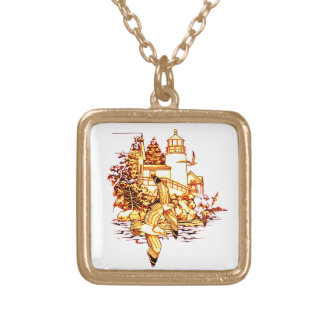 LightHouse Gold Plated Necklace