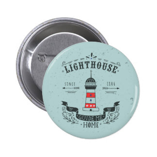 Lighthouse Guide Me Home Poster 2 Inch Round Button