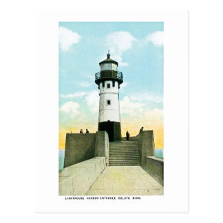 Lighthouse, Harbor Entrance, Duluth, Minnesota Postcard