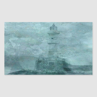 Lighthouse Impasto Rectangle Stickers