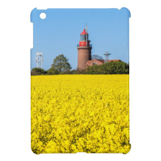 Lighthouse in Bastorf with yellow canola field iPad Mini Cover