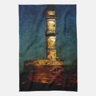 Lighthouse in Chania Kitchen Towel