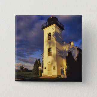 Lighthouse in Escanaba UP Michigan 2 Inch Square Button