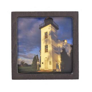 Lighthouse in Escanaba UP Michigan Premium Keepsake Box