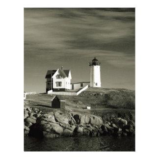 Lighthouse in Maine Letterhead