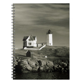 Lighthouse in Maine Spiral Notebook