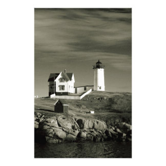 Lighthouse in Maine Stationery