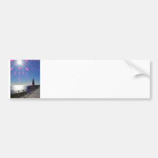 Lighthouse in Sunshine, Gibraltar Bumper Sticker