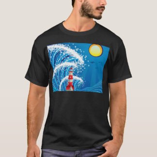 Lighthouse in the Sea 3 T-Shirt
