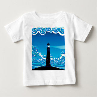 Lighthouse in the Sea 5 Baby T-Shirt