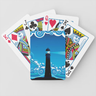 Lighthouse in the Sea 5 Bicycle Playing Cards