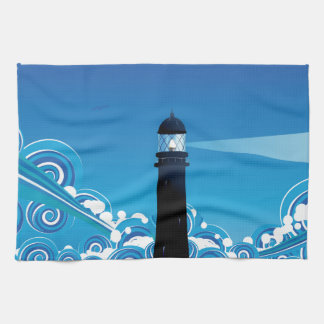 Lighthouse in the Sea 5 Kitchen Towel