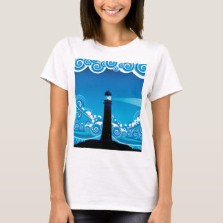Lighthouse in the Sea 5 T-Shirt