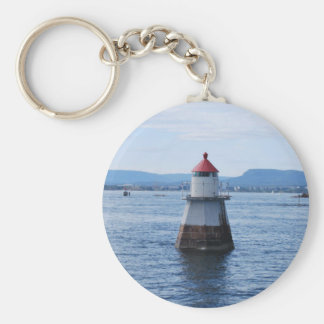 lighthouse in the sea keychain