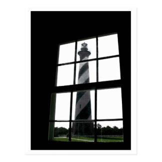 Lighthouse in the Window Postcard