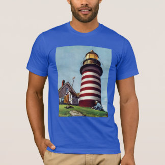 Lighthouse Keeper by Stevan Dohanos T-Shirt
