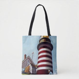 Lighthouse Keeper by Stevan Dohanos Tote Bag