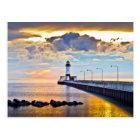 Lighthouse Lake Superior Postcard