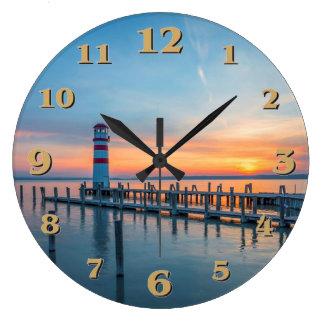 Lighthouse Large Clock
