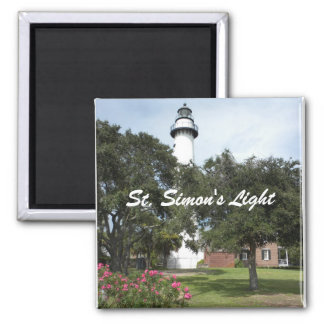 Lighthouse, Lawn, and Flowering Bush Magnet