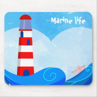 Lighthouse mouspad mouse pad