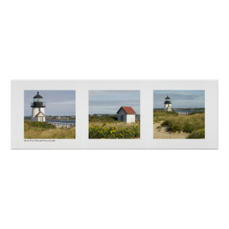 Lighthouse Nantucket, Massachusetts Triptych Poster