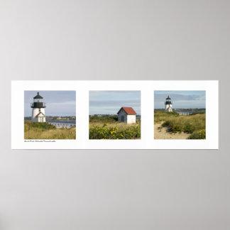 Lighthouse Nantucket Massachusetts Triptych Print
