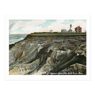 Lighthouse, North Truro, Massachusetts Vintage Postcard