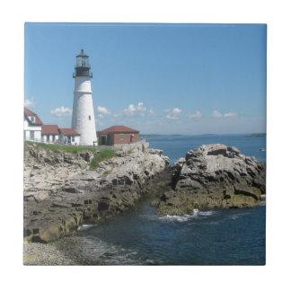 Lighthouse Of Bar Harbor Ceramic Tiles