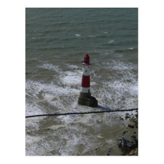 Lighthouse off Beachy Head, East Sussex. Postcard