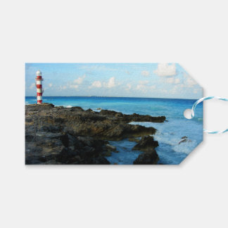 Lighthouse on a Mexican Beach Gift Tags