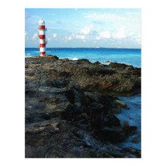 Lighthouse on a Mexican Beach Letterhead