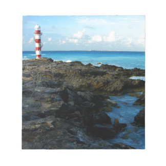 Lighthouse on a Mexican Beach Notepad