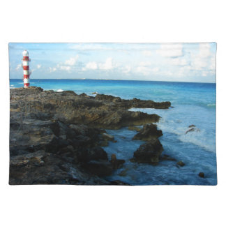 Lighthouse on a Mexican Beach Placemat