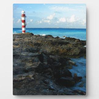 Lighthouse on a Mexican Beach Plaque