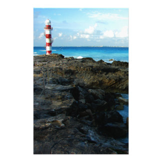Lighthouse on a Mexican Beach Stationery