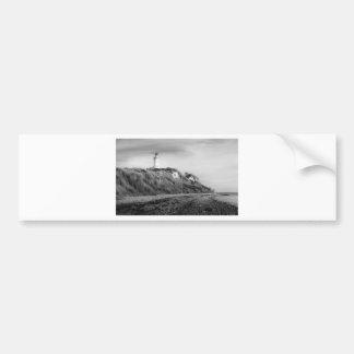 Lighthouse on beach bumper sticker