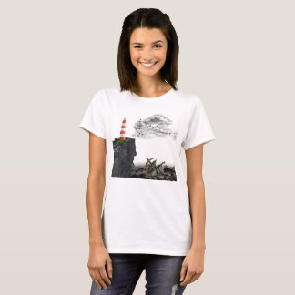 Lighthouse on Cliff T-Shirt