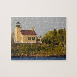 Lighthouse on Lake Superior near Copper Harbor Jigsaw Puzzle