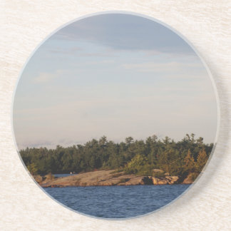 Lighthouse on Shoal Island Beverage Coasters