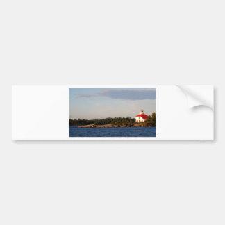 Lighthouse on Shoal Island Bumper Sticker
