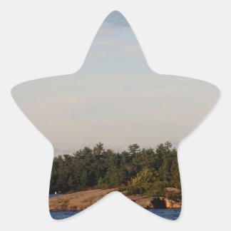 Lighthouse on Shoal Island Star Sticker