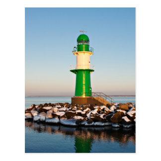 Lighthouse on the Baltic Sea coast Postcard