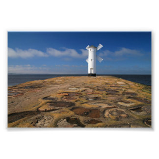 Lighthouse on the mole in Swinemuende in Poland Photo Print